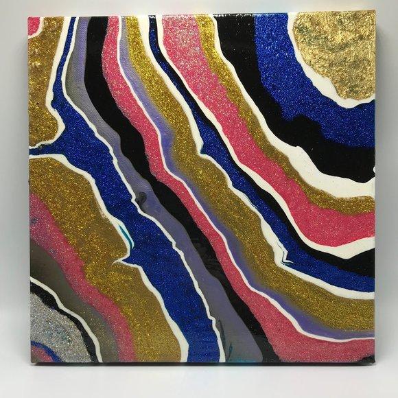 NWOT Abstract Geode Art Wall Decor